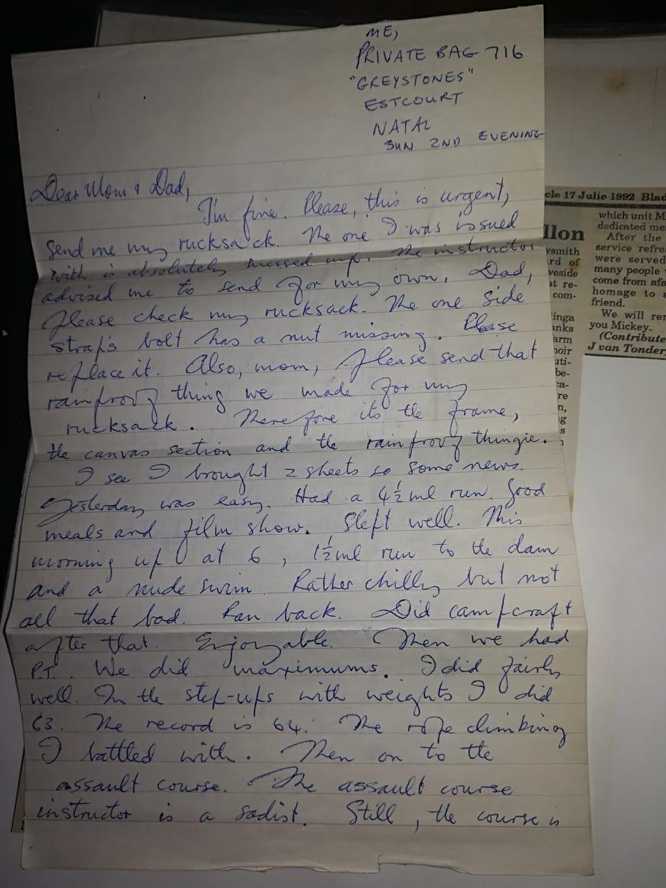 Veld Vlei letter 1972_1