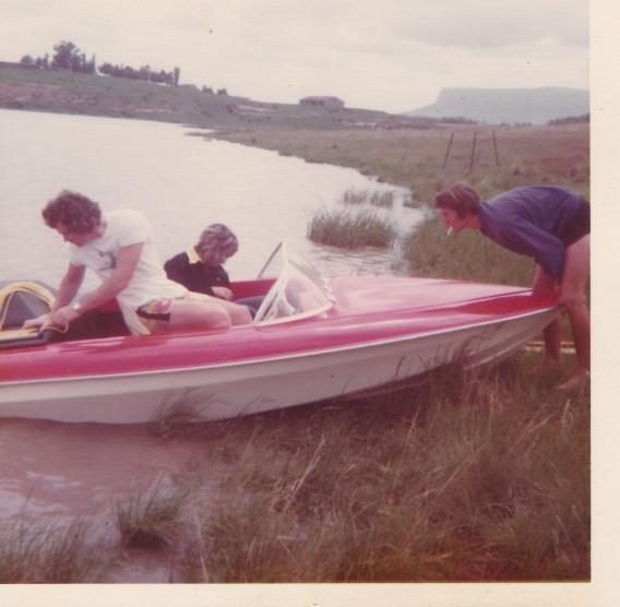 Hilton Braithwaite, Carol Gower-Jackson, Carl Reitz, Sarclet Dam - 1 Dec 1974
