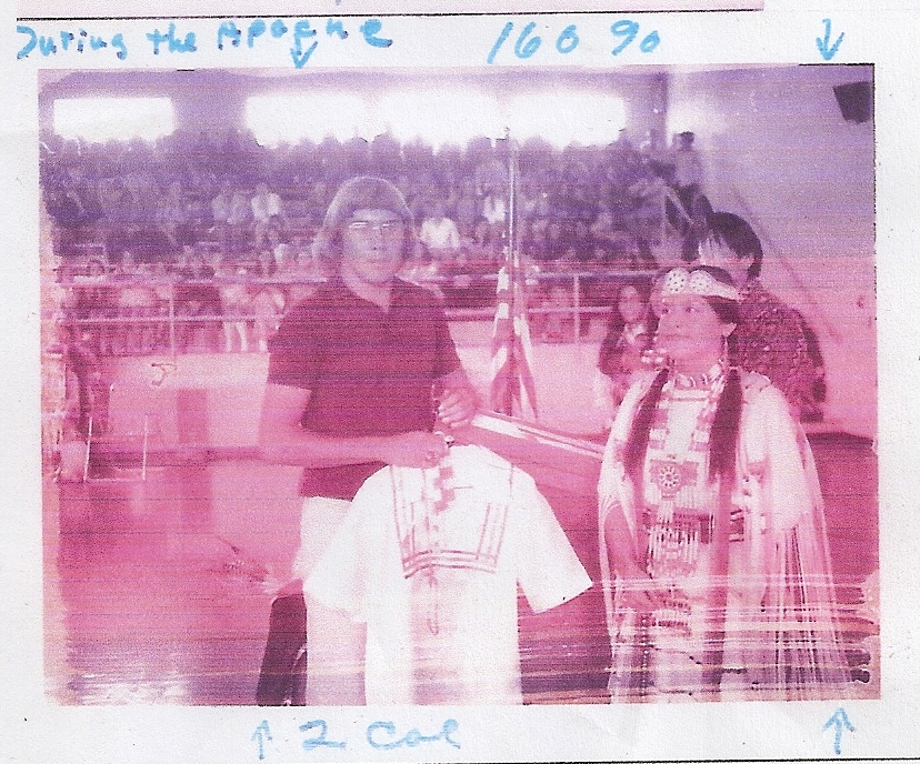 The Apache Indian Society presented me with a special hand-made shirt