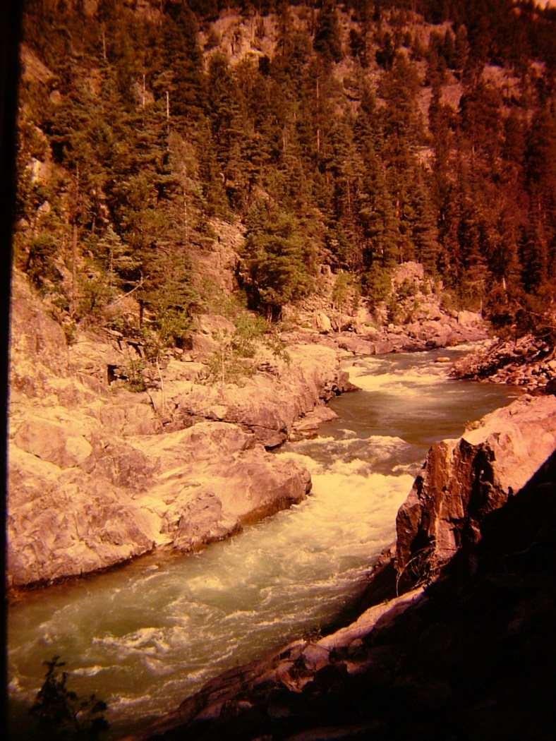 Between Silverton & Durango in Colorado from the steam train window