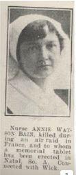 Annie Watson Bain obituary photo