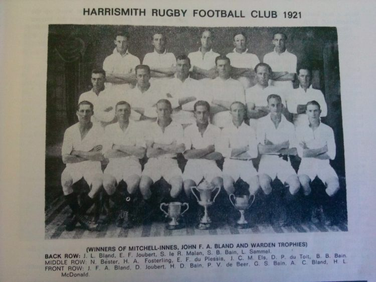1921 Rugby Team Bains Blands
