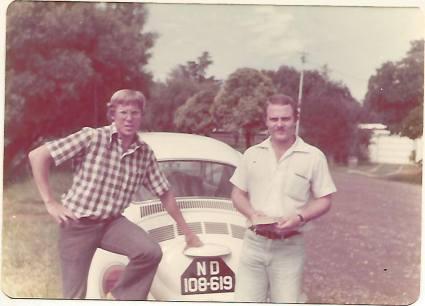 me & Tuffy Joubert in his Durban recce days