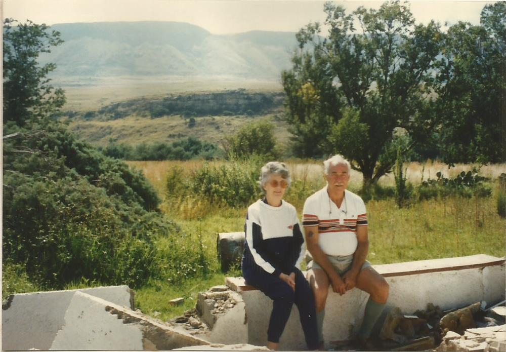 1990 Birdhaven Mum & Dad on the front veranda