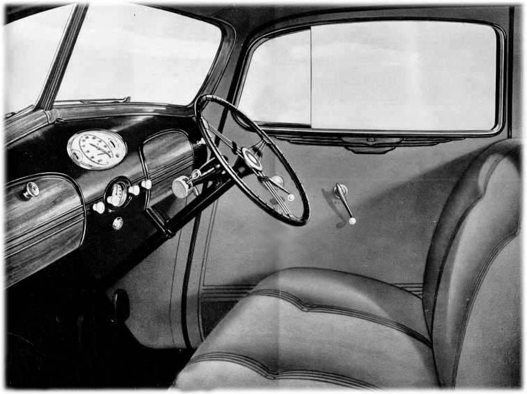 Hudson Terraplane 1936 interior RH Drive
