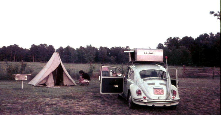 Larry VW Bug Camping