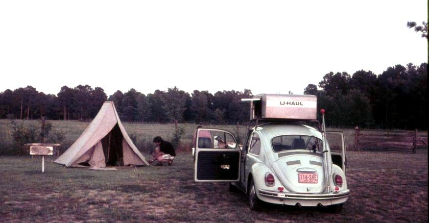 Larry VW Bug Camping