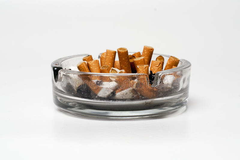 ashtray full