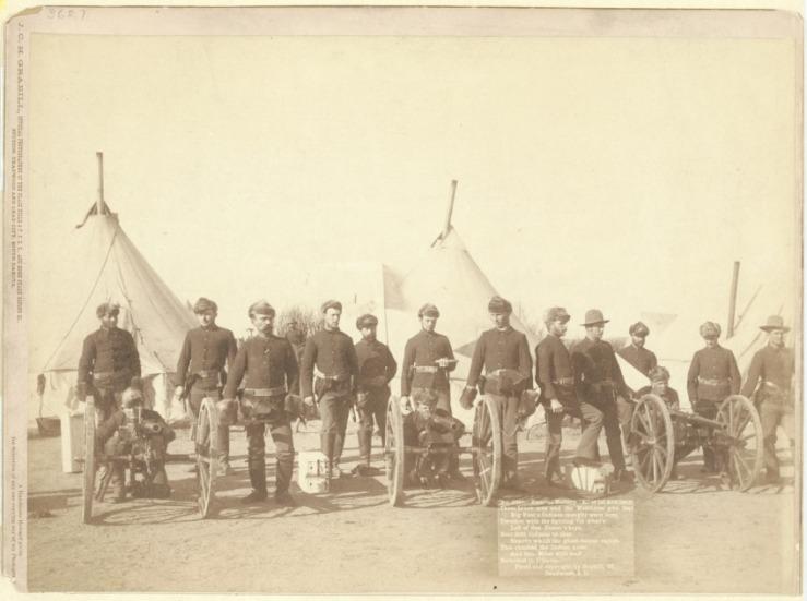Wounded Knee machine guns