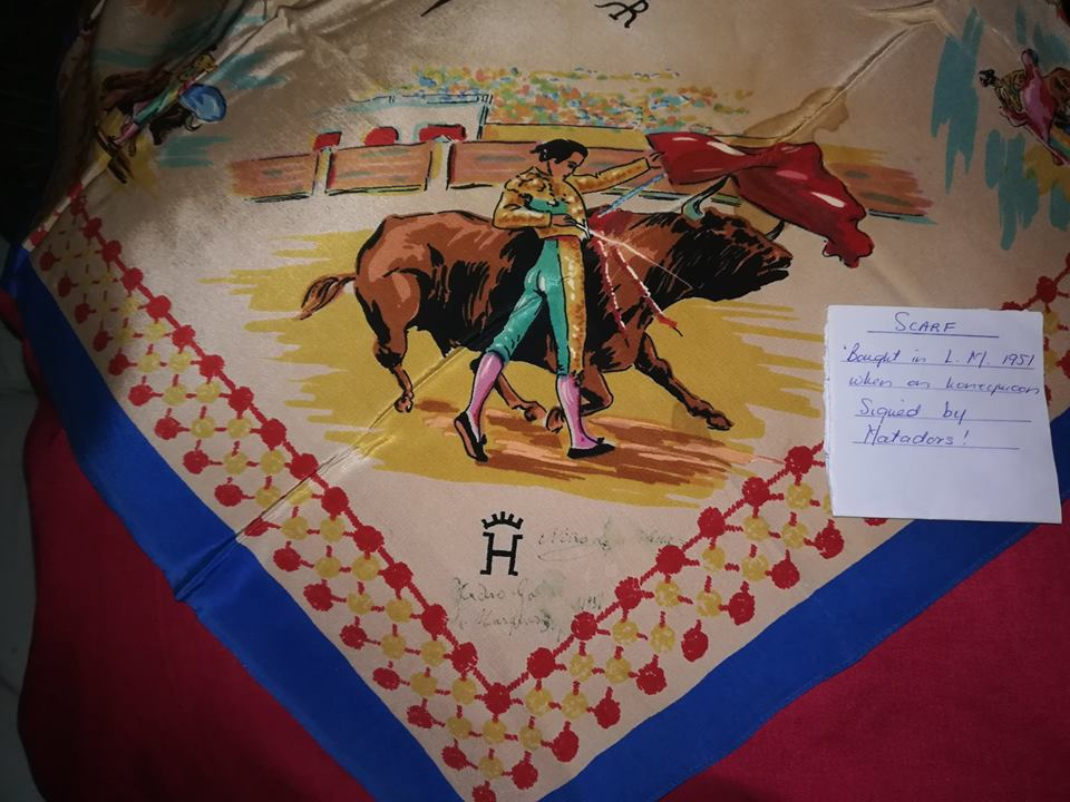 Honeymoon bullfight cloth Lourenco Marques